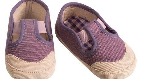 Maileg Fialové tenisky - mega maxi, fialová barva, textil