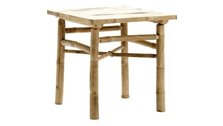 Tine K Home Bambusový stolek 45 cm, béžová barva