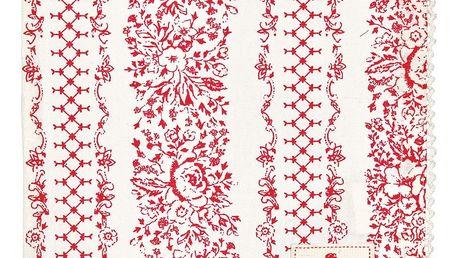 GREEN GATE Látkový ubrousek Jenny red, červená barva, textil