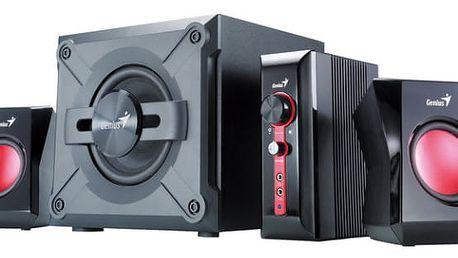 Reproduktory Genius SW-G2.1 1250 (31730980100) černá/červená