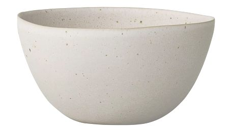 Bloomingville Keramická miska Sandrine Matte Offwhite, bílá barva, krémová barva, keramika