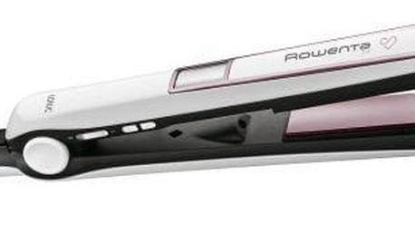 Žehlička na vlasy Rowenta Premium Care SF7460F0 bílá/růžová/zlatá