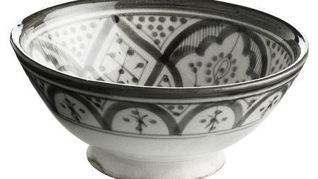 Tine K Home Keramická miska Morocco grey, šedá barva, keramika