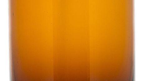Bloomingville Skleněná dóza Brown glass, hnědá barva, sklo