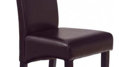 Nero - Jídelní židle, nosnost 120 kg (wenge/ tmavě hnědá)