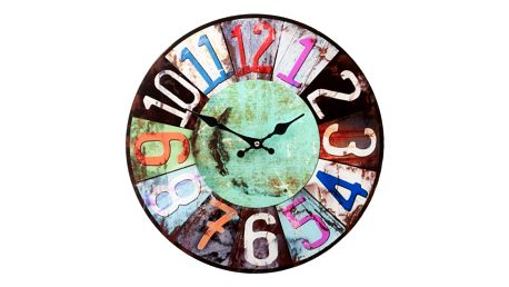 Koopman 35260 Kulaté nástěnné hodiny Shabby Chic 38 cm - WINTER
