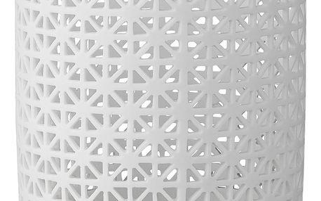 Bloomingville Porcelánový svícen Laced, bílá barva, porcelán