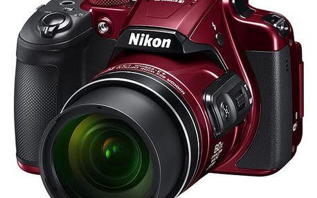 Digitální fotoaparát Nikon Coolpix B700 červený + DOPRAVA ZDARMA