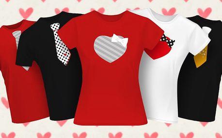 Valentýnská trička pro dámy i pány