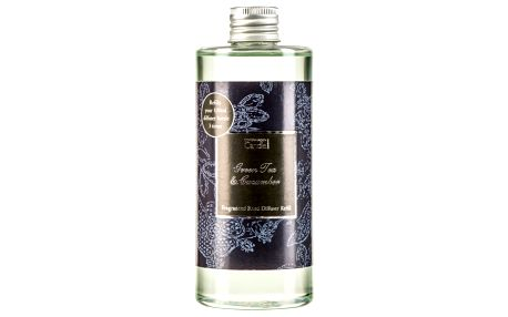 Náplň do aroma difuzéru s vůní zeleného čaje a okurky Copenhagen Candles Green Tea & Cucumber, 300 ml