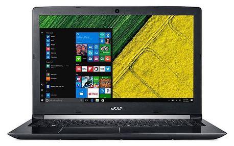 Notebook Acer 5 (A515-51G-59DM) (NX.GUDEC.001) černý Software Microsoft Office 365 pro jednotlivce CZ + Software F-Secure SAFE, 3 zařízení / 6 měsíců + Monitorovací software Pinya Guard - licence na 6 měsíců v hodnotě 2 278 Kč + DOPRAVA ZDARMA
