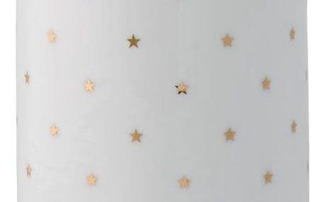 Bloomingville Keramická váza Fanny Gold 18 cm, bílá barva, keramika
