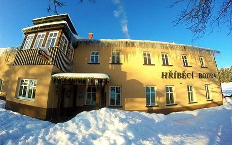 Last minute lednový pobyt na Hříběcí boudě. Čeká vás spousta sněhu a relaxace v hotelové sauně.