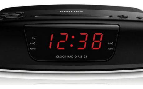 Radiobudík Philips AJ3123 černý