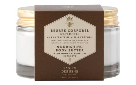 Panier des Sens Tělové máslo 200 ml - med, zelená barva