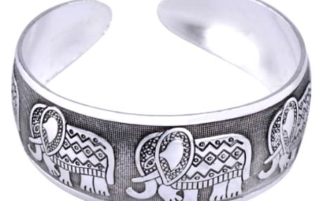 Dámský široký náramek z tibetského stříbra