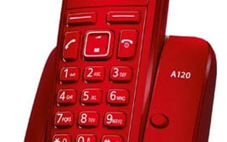 Domácí telefon Siemens A120 (S30852-H2401-R604) červený