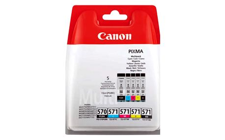 Inkoustová náplň Canon PGI-570/CLI-571 PGBK/C/M/Y/BK MULTI BL w/o SEC (0372C004) černá/červená/modrá/žlutá