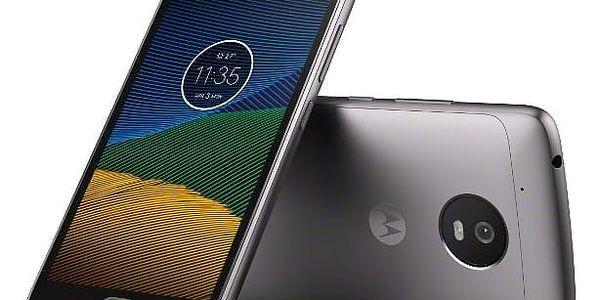 Mobilní telefon Motorola Moto G 5.generace Dual SIM (PA610037CZ) šedý Software F-Secure SAFE, 3 zařízení / 6 měsíců v hodnotě 979 Kč + DOPRAVA ZDARMA