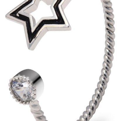 Prsten ve stříbrné barvě Lyrra 046 ( 17 mm)