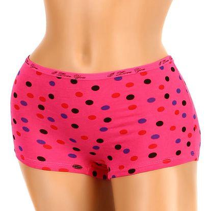 Kalhotky - boxerky s puntíky II.jakost růžová
