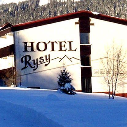 Zimní nebo jarní wellness pobyt s balíčkem slev v Hotelu Rysy ***. Polopenze, sauna, vířivka aj.
