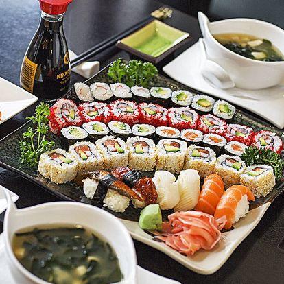 Luxusní degustační sushi menu ve Slovanském domě