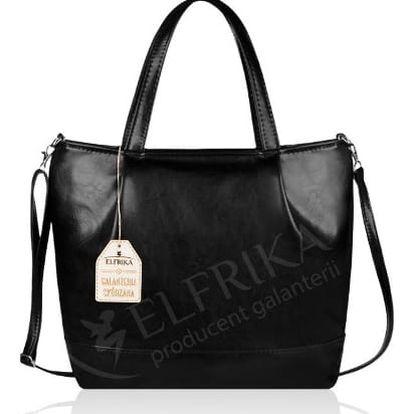 Elegantní dámská kabelka Elfrika černá