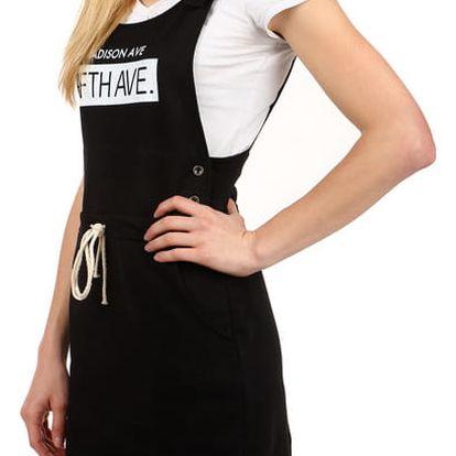 Pohodlné letní šaty s nápisem II.jakost černá