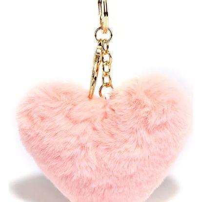 Růžový přívěšek Heart 1014