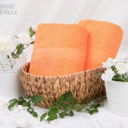 XPOSE ® Froté osuška VERONA - oranžová 70x140 cm