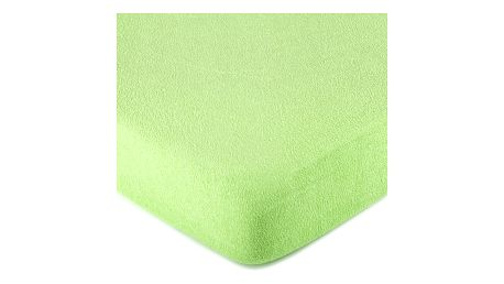 4Home froté prostěradlo zelená, 90 x 200 cm