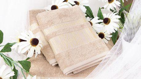 Night in Colours Bambusový ručník ARYA - světle hnědá 50x90 cm