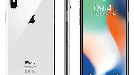 Mobilní telefon Apple iPhone X 64 GB - Silver (MQAD2CN/A) + DOPRAVA ZDARMA