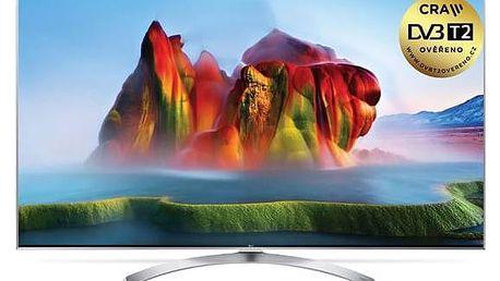 Televize LG 65SJ810V stříbrná + okamžitá sleva 1000 Kč! + Doprava zdarma