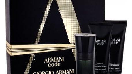 Giorgio Armani Armani Code Pour Homme dárková kazeta pro muže toaletní voda 50 ml + balzám po holení 75 ml + sprchový gel 75 ml