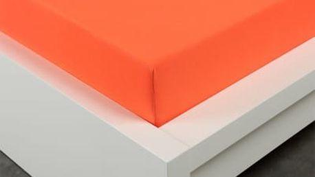 XPOSE ® Jersey prostěradlo dvoulůžko - tmavě oranžová gramáž 150g/m 180x200 cm