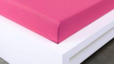 XPOSE ® Jersey prostěradlo dvoulůžko - karmínová gramáž 150g/m 180x200 cm