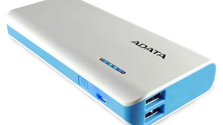Power Bank ADATA PT100 10000mAh (APT100-10000M-5V-CWHBL) bílá/modrá