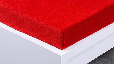 XPOSE ® Prostěradlo mikroflanel Exclusive dvoulůžko - červená 180x200 cm