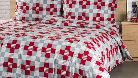 4Home Flanelové povlečení Checker, 140 x 220 cm, 70 x 90 cm