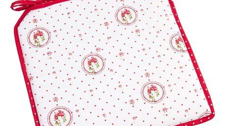 Trade Concept Sedák Elegant puntík červená, 40 x 40 cm