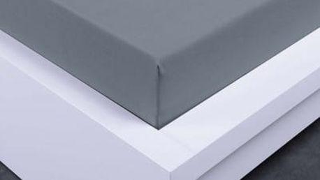 XPOSE ® Bambusové jersey prostěradlo jednolůžko - šedá 90x200 cm