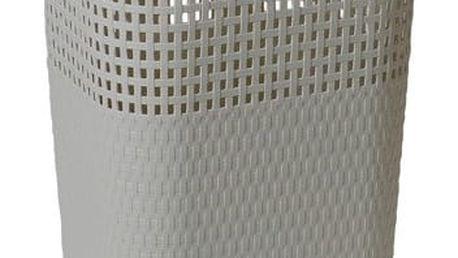 Ratanový koš na prádlo 60 l, šedá