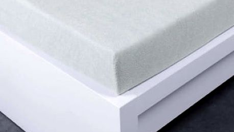 XPOSE ® Froté prostěradlo Exclusive jednolůžko - světle šedá 90x200 cm