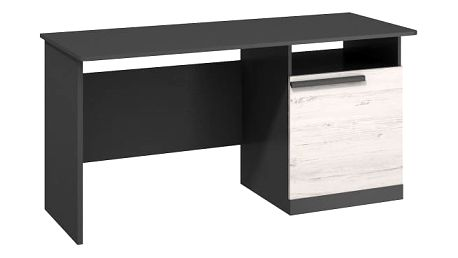 Trend - Pracovní stůl (grafit, borovice andersen)
