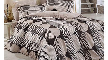 BedTex Bavlněné povlečení Zara hnědá, 140 x 200 cm, 70 x 90 cm, 140 x 200 cm, 70 x 90 cm