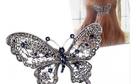 Zdobená spona do vlasů Motýl