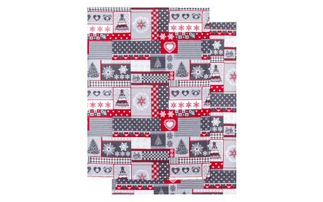 Trade Concept Kuchyňská uterka Vánoce šedá, 50 x 70 cm, sada 2 ks