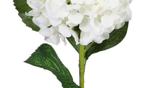 Umělá květina Hortenzie, bílá